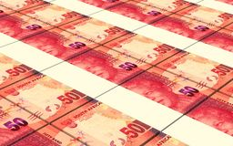 Los randes sudafricanos cargan en cuenta el fondo de las pilas libre illustration