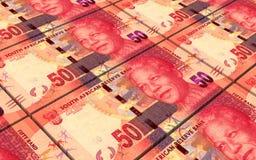 Los randes sudafricanos cargan en cuenta el fondo de las pilas stock de ilustración