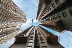 Los rascacielos residenciales de Hong Kong fotografía de archivo libre de regalías