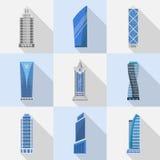 Los rascacielos vector el sistema de iconos aislados Imagen de archivo libre de regalías