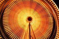 Los rastros hermosos de la luz en un carnaval Foto de archivo
