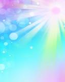 Los rayos de la luz coloridos, extracto estallaron el fondo Foto de archivo libre de regalías