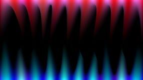 Los rayos de la luz mágicos brillantes, abstractos, multicolores, azules, rojos y rosados les gusta el fuego, colmillos agudos, e stock de ilustración