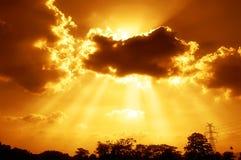 Los rayos del sol Imagen de archivo libre de regalías