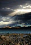 Los rayos del sol Imágenes de archivo libres de regalías