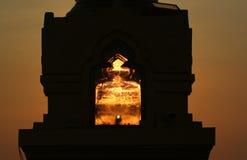 Los rayos del sol poniente Imagen de archivo libre de regalías