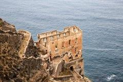 Los Realejos废墟在特内里费岛,西班牙峭壁的  免版税库存照片