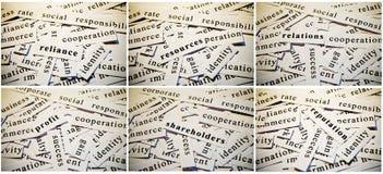 Collage del negocio Foto de archivo libre de regalías