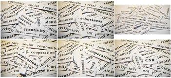 Collage del negocio Imágenes de archivo libres de regalías