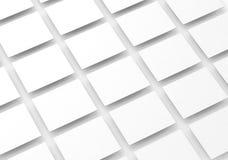 Los rectángulos blancos en blanco colocan para la maqueta del diseño del sitio web Imagen de archivo libre de regalías