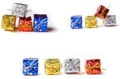 Los rectángulos de regalo aislaron la colección Imágenes de archivo libres de regalías