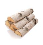 Los registros de la madera del fuego Foto de archivo libre de regalías
