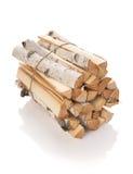 Los registros de la madera del fuego Imagen de archivo libre de regalías