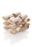 Los registros de la madera del fuego Imagen de archivo