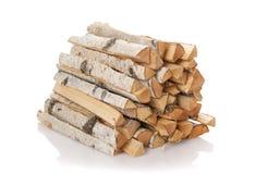 Los registros de la madera del fuego Fotografía de archivo