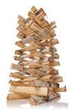 Los registros de la madera del fuego Foto de archivo