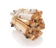 Los registros de la madera del fuego Fotografía de archivo libre de regalías