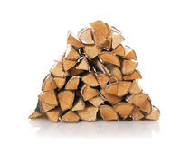 Los registros de la madera del fuego Imagenes de archivo