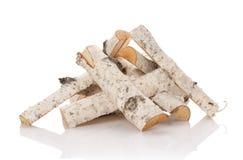 Los registros de la madera del fuego Fotos de archivo libres de regalías