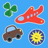 Los remiendos - fije para los niños stock de ilustración