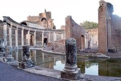 Los restos antiguos de una ciudad romana de Lazio - Italia 231 Foto de archivo