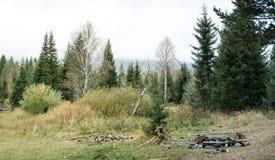 Los restos de las piedras después de un baño del campo Imagen de archivo