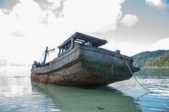 Los restos de naves antiguas Foto de archivo