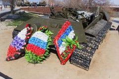 Los restos de un tanque de batalla T-34 imagen de archivo libre de regalías