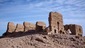 Los restos de una fortaleza islámica Foto de archivo libre de regalías