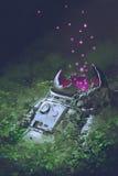 Los restos del astronauta Foto de archivo libre de regalías