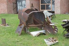 Los restos del avión estrellado Imagenes de archivo