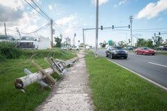 Los restos del huracán Maria Fotos de archivo