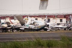 Los restos del huracán Maria Imágenes de archivo libres de regalías