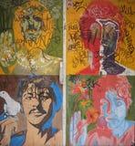 Los retratos del arte pop de Beatles Imagen de archivo