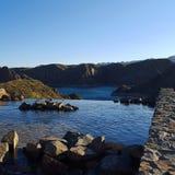 Los Reyunos美好的自然 免版税库存照片