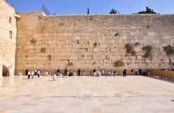 Pared que se lamenta de Jerusalén Fotos de archivo libres de regalías