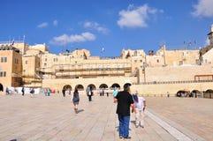 Pared que se lamenta de Jerusalén Imágenes de archivo libres de regalías