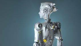 Los robots 3d del fi del sai del robot de la tecnología rinden libre illustration