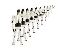 Los robots especifican en … Fotografía de archivo