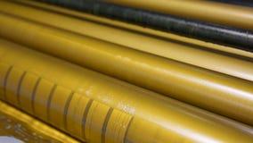 Los rodillos de oro de la impresora de la tinta compensaron industria metrajes