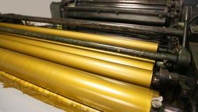 Los rodillos de oro de la impresora de la tinta compensaron industria almacen de metraje de vídeo