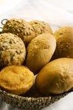 Los rodillos de pan se cierran para arriba Fotografía de archivo