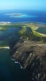 Los Roques海岛Aereal 免版税库存图片