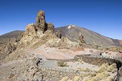 Los Roques alla sosta nazionale di EL Teide. Immagine Stock