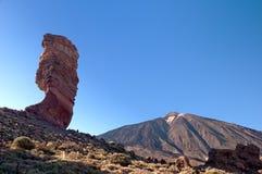 Los Roques de Garcia and volcano Teide. Tenerife, Spain Stock Image