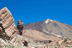 Los Roques de Garcia and volcano Teide Stock Photos