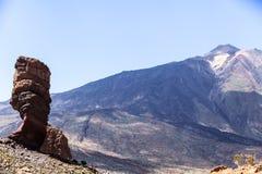 Los Roques de Garcia, vulcano emblematico unico di Teide dell'isola di Tenerife Immagini Stock Libere da Diritti