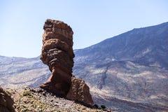 Los Roques de Garcia, vulcano emblematico unico di Teide dell'isola di Tenerife Fotografia Stock Libera da Diritti