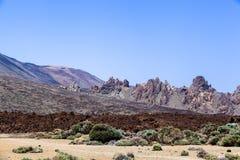 Los Roques de Garcia, vulcano emblematico unico di Teide dell'isola di Tenerife Immagine Stock Libera da Diritti