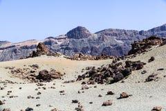 Los Roques de Garcia, vulcano emblematico unico di Teide dell'isola di Tenerife Immagine Stock